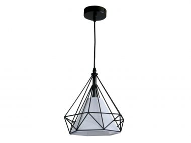 Black And White Prism Cage Pendant Light